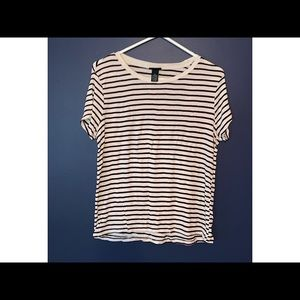 Rue Women's XL Striped Short-Sleeve Shirt